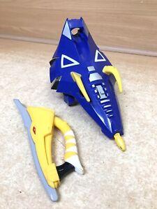 Power Rangers DinoThunder Z REX BLASTER X1 Blue Shield X1 Yellow Grip