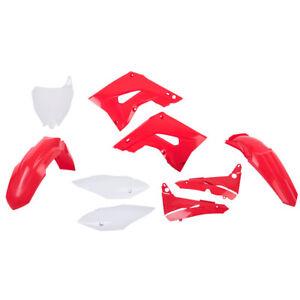 Polisport Restyle Plastic Kit Set New Style Red White Honda CR125R CR250R 02-07