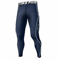 Take Five Mens Side Pocket Skin Tight Compression Layer Pants Leggings Z814 CA