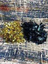 GTM Sportswear Cheer Pom Poms Metallic Gold & Blue Cheerleader Dance Set Of 2