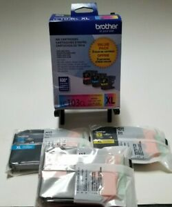 Brand New Genuine Brother LC103CL XL High Yield - Yellow, Magenta, Cyan Bx4