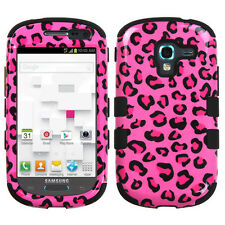 For Samsung Galaxy Exhibit T599 IMPACT TUFF HYBRID Case Skin Cover Pink Cheetah