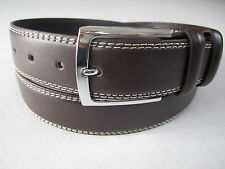 New Mens Casual Dress Leather Belt 1-Prong Silver Color Buckle Black Brown Jeans