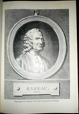 Jean-Philippe Rameau, 18th C Music Theory, Musicology, 5 Volumes Scarce