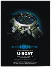 PUBLICITE ADVERTISING 2012 U-BOAT  montre                                 060113