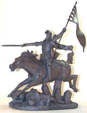 Statuette Jeanne d'Arc par J. Roulleau - Statuette médiévale