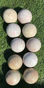 Used lot of 10 Lacrosse Balls Brine White