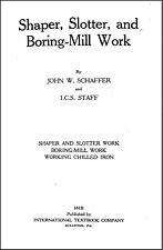 Shaper Slotter Amp Boring Mill Work Manual