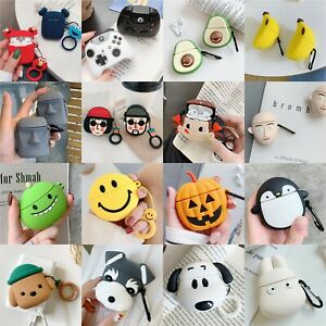 3D Cute Character Animal Silicone Cover For Apple AirPods 1 2 Earphone Box Case