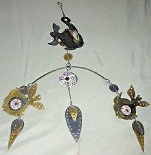 Attractive Metal and Enamel Hanging Mobile w/Fish
