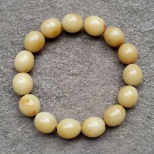 Genuine Indonesia Gebang Palm Oval Bracelet 15 Beads