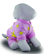 Pink Dog pyjamas 20-50cm small-xxxlarge dogs, pink fleece 4 legs NEW