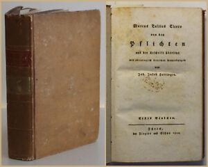 Cicero Pflichten aus der Urschrift übersetzt philologisch Anmerkungen 1800 sf