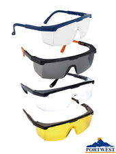 Portwest PW33 Classic Safety Eye Screen Glasses - 1,6 or 12 Pairs