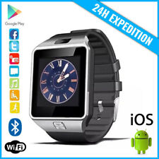 Original DZ09 Smart Watch Montre Facebook Bluetooth SIM Slot Android iOS Silver
