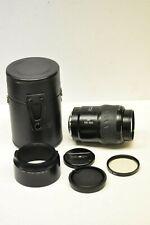 Minolta AF 100-300mm f4.5/5.6 Zoom XI lens with filter, hood, caps & case
