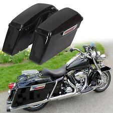 ultra road king Vivid Black Finish,1 Set street glide electra glide XMT-MOTO Hard Saddle bags Trunk w//Lid /& Latch Key fits for 1994-2013 Harley Davidson all Touring Models including road glide