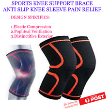 ELASTIC KNEE SUPPORT COMPRESSION BRACE ANTI SLIP SLEEVE SPORTS JOGGING CYCLING