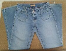 Tommy Jeans Hilfiger Denim Womens midrise flare leg 33 x 32 Size 9 distressed JR