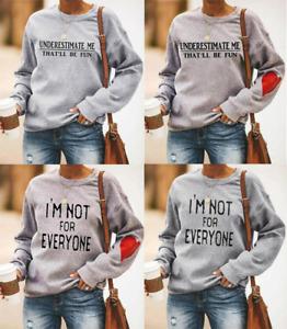 Underestimate Me That'll Be Fun Sweatshirt Cute Heart Design Winter Daily Shirts