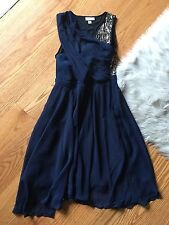 NWT Phillip Lim 3.1 Size 4 A Line Swing Dress Chiffon with Sequins Blue PARTY