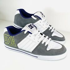 DC Shoes Court Graffik Men's White Leather & Grey Skate Trainers - 6 UK