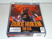 duke nukem 3d game inc 1 & 2  ibm pc cd-rom dos big box aus mint disk 1996