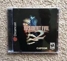 Resident Evil 2 (Sega Dreamcast, 2000) Complete Rare Mint
