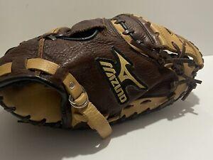 """Mizuno GXC 72S Pro Scoop Diamond Pro Catchers Mitt 34"""" RHT Excellent Condition"""