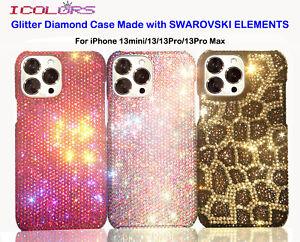 Glitter Diamond Crystals Case For iPhone 13 mini Pro Max WITH SWAROVSKI ELEMENTS