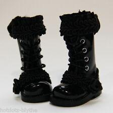 Custom Boots For Blythe/ Pullip/ Monster High/ Dal/ Momoko/ Licca/ Dal - B246,BK