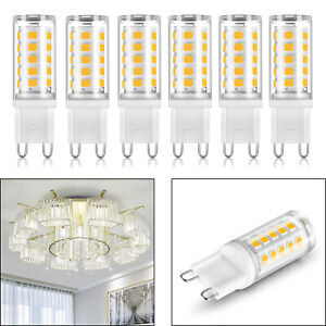 6pcs Non-dimmable G9 Led Bulbs Ceiling Light 40W Equivalent 6000K 350LM White T6