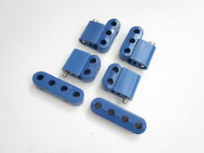 Blue Hi Temp Ignition Lead Brackets Seperators Vertical Mounts Set Spark Plug