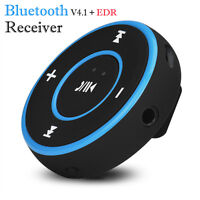 Wireless Bluetooth 3.5mm Audio Stereo Music Car AUX Receiver Adapter Kit Speaker