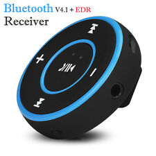 Wireless Bluetooth 3.5mm Audio Stereo Car AUX Receiver Adapter Kit Speaker Blue