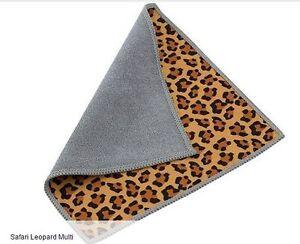 Carson Double Sided Microfiber Cleaning Cloth, Safari Lepord