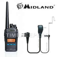 Midland Arctic Black VHF Handheld Marine LCD Radio Kit for Boat Vessel Yacht
