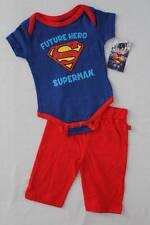 NEW Baby Boys 2 Piece Set 3 - 6 Months Superman Bodysuit Pants Super Hero DC Com