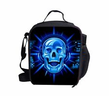 Sports School Lunch Bag Insulated Cooler Lunch Box Tote School Work Picnic Skull
