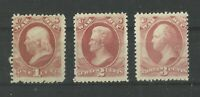 USA 1c, 2c & 3c US Classic War Tax Stamps Early US LMM Old American Collection