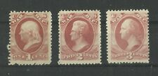 More details for usa 1c, 2c & 3c us classic war tax stamps early us lmm old american collection
