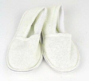 Women's Comfy Cotton Terry House Slippers Shoes Solid Embroidered Sizes S-XL New
