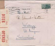Enveloppe CAPETOWN (Afrique du Sud) pour SUISSE - Censored  WW II