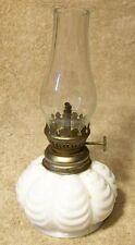 "Charming Small ""WHITE MILKGLASS OIL LAMP"""