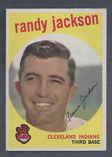 1959 Topps #394 Randy Jackson Cleveland Indians VG Plus