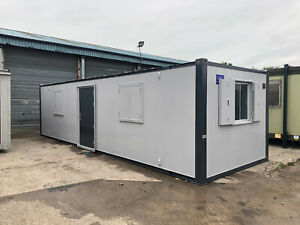 32ft x 10ft anti vandal open plan office portable cabin for sale