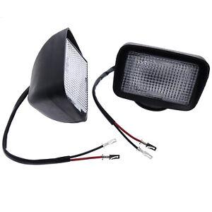 2X Front Light Headlight w/Rubber 6577801 for Bobcat 450 453 463 553 653 751 753
