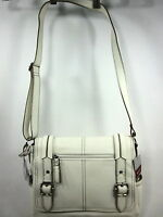 RELIC, BLEEKER MESSENGER BAG, WOMENS, TRUE WHITE, ONE SIZE, NEW WITH TAGS