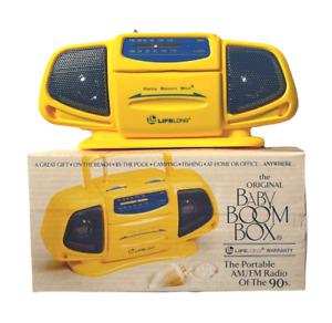 New in Box The Original Baby Boom Box AM/FM Portable Mini Radio Of The 1990's (B