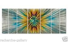 Modern Huge Painting on Metal Decor by Artist Ash Carl Abstract Wall Sculpture